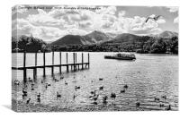 """Derwentwater, close to the """"Theatre on the Lake"""", Canvas Print"""