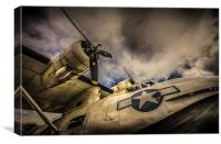 """Catalina PBY-5A """"Miss Pick Up"""" Low Angle, Canvas Print"""