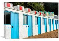 Newquay Beach Huts, Canvas Print