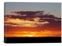 The beauty of sunset, Canvas Print