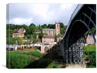 Ironbridge shadow of the bridge, Canvas Print