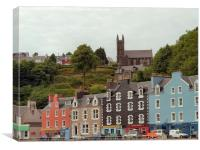 Tobermory , the Church Above, Canvas Print