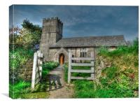 Mariansleigh Church at Easter, Canvas Print