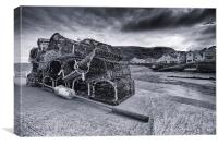 Stormy Staithes Harbour, Canvas Print