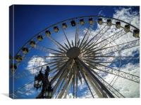 Wheel of Excellence in Brighton, Canvas Print