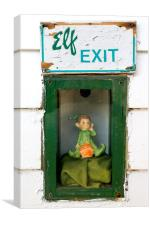Elf Exit, Canvas Print