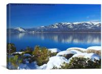 Lake Tahoe Winter, Canvas Print