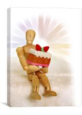 Woody Mannequin Has a Party, Canvas Print