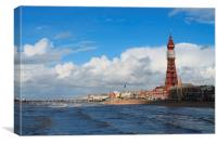 Clear Skies at the Seaside, Canvas Print