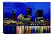 MediaCity Skyline, Canvas Print