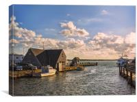 Autumn afternoon seascape on Cape Cod, Canvas Print