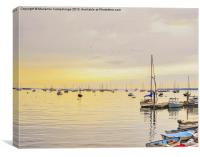 Early morning on the sea Rockland Maine, Canvas Print