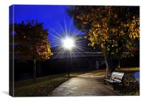 The Twlight Lampost and the Bench, Canvas Print