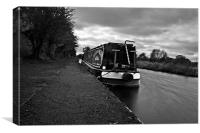 Canal boat on branston canal, Canvas Print
