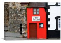 The smallest house in Britain, Canvas Print