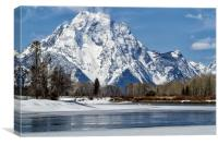 Mt Moran from Oxbow Bend, Canvas Print