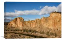 Smith Rock and Crooked River, Canvas Print
