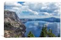 Crater Lake from the North Rim, No. 2, Canvas Print