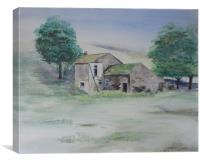 The Abandoned House, Canvas Print