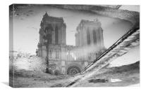 Notre Dame Reflection, Canvas Print