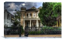 Cornstalk Fence Hotel, Canvas Print