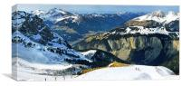 Spring beckons in the Alps, Canvas Print