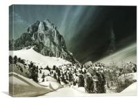The Stone City of the Dolomites, Canvas Print