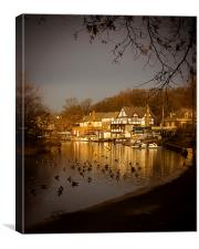 Golden Light at Boathouse Row, Canvas Print