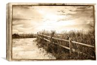 Sepia Pathway To The Sea , Canvas Print