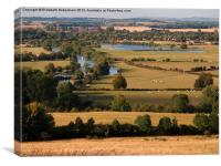 Dorchester-on-Thames from Wittenham Clumps, Canvas Print