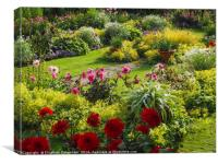 In an English Country Garden, Canvas Print