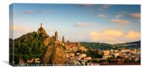 Le Puy en Velay Aiguilhe France , Canvas Print