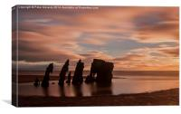 Clydeside At Sunset, Canvas Print