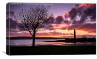 Sunset at the Pencil, Canvas Print