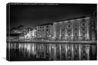 Exeter Quay at Night, Canvas Print