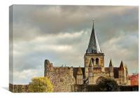 Rochester Cathedral, Afternoon Sun, Canvas Print