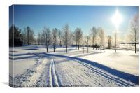 Perfect Day for Skiing, Canvas Print