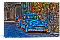 It's a Blue Car, Canvas Print