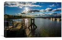 River Medway, Canvas Print