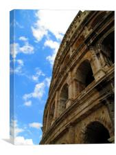 The side of the Roman Colosseum 2, Canvas Print