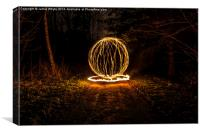Dirt Track Fire Orb, Canvas Print