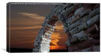 Gothic Arch Sunset, Canvas Print