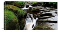 Top Falls Of Pistyll Rhaeadr Waterfalls, Canvas Print
