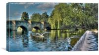 Bakewell River Wye , Canvas Print