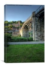Ironbridge And St Luke's Church, Canvas Print