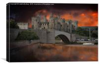 Dramatic Sky Over Castell Conwy, Canvas Print