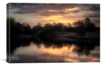Chasewater Sunrise, Canvas Print