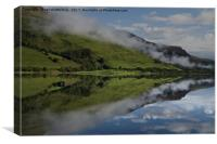 Reflection In The Llyn Mwyngil, Canvas Print
