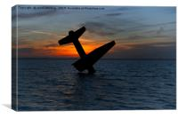 Sunset At The Harderwijk Plane Memorial, Canvas Print