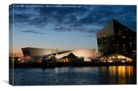 The Salthouse Dock At Night, Canvas Print